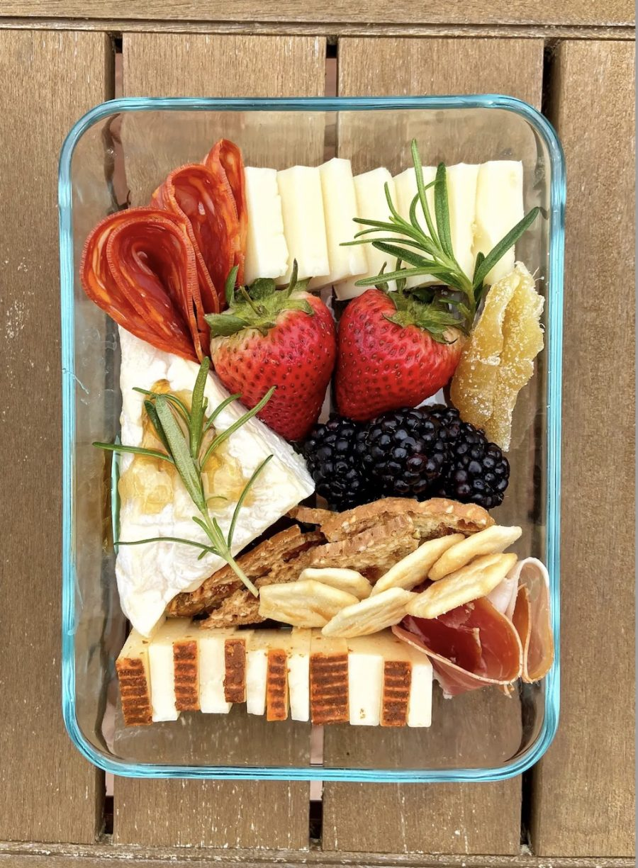 Social Distancing Cheese Board Party